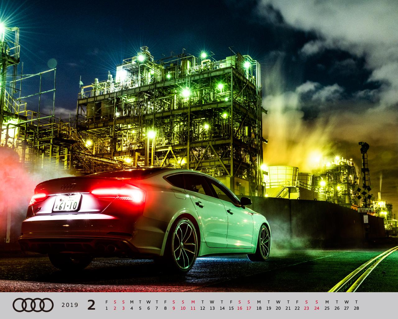 オリジナル壁紙 カレンダー Audi Japan Sales